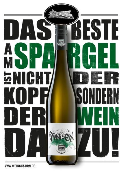 """Bergdolt-Reif & Nett - """"PIN:OX"""" Weißwein-Cuvée trocken Spargelwein"""
