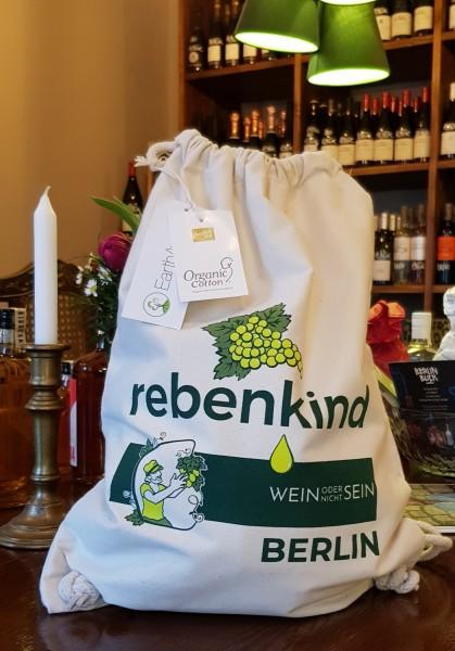 """Rucksacktasche """"rebenkind Berlin"""" aus Fairtrade-BIO-Baumwolle"""