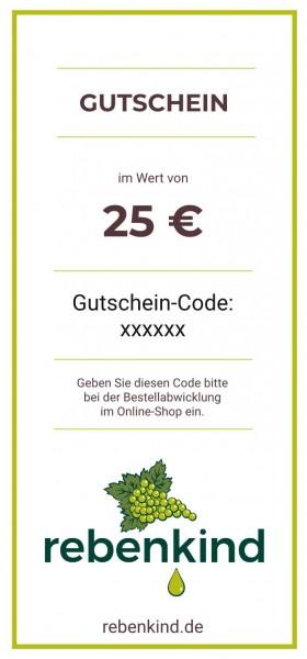 """Wein-Geschenkgutschein """"25 €"""""""