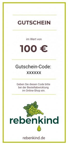 """Wein-Geschenkgutschein """"100 €"""""""