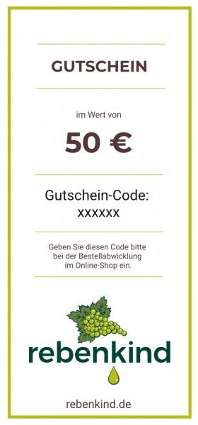 """Wein-Geschenkgutschein """"50 €"""""""